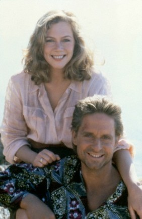 Kathleen Turner and Michael Douglas in