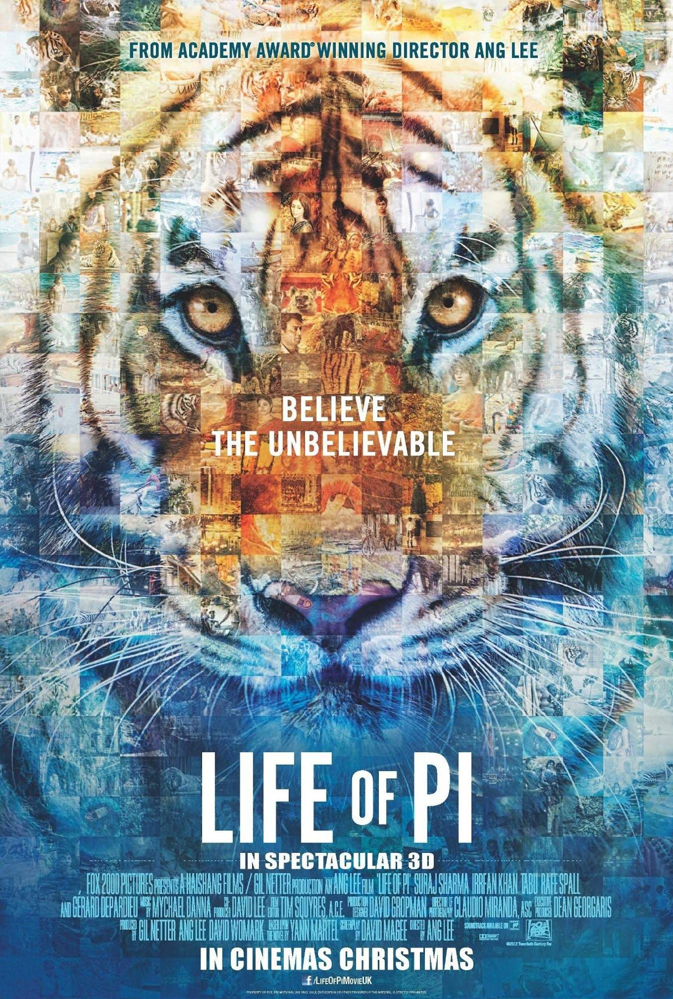 The life of pi 2012 ang lee the mind reels for Life of pi cast