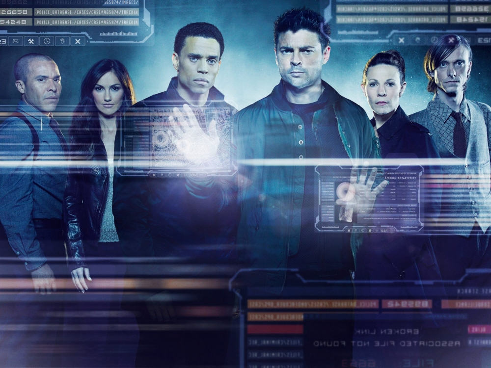 Karl-Urban-Michael-Ealy-Lili-Taylor-and-Minka-Kelly-in-Almost-Human-Poster