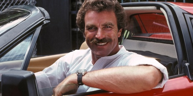 Tom Selleck in a 1980 Ferrari 308 GTS for Magnum, P.I.