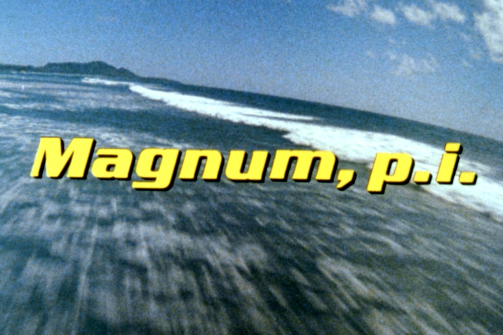 MAGNUM P.I. -- Sleuth Series -- Pictured: 'Magnum P.I.' logo -- Sleuth Photo