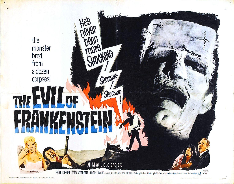 Resultado de imagen de the evil of frankenstein 1964