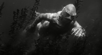Ricou Browning as the Gill-Man in 'Creature from the Black Lagoon'