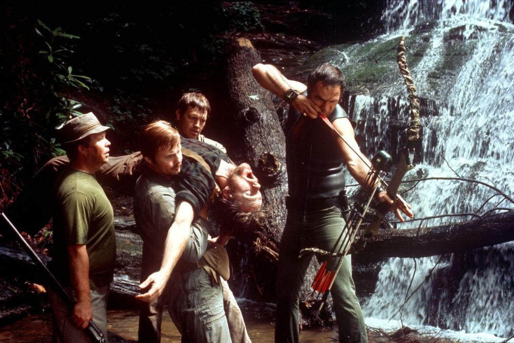still-of-burt-reynolds,-jon-voight,-ned-beatty,-ronny-cox-and-bill-mckinney-in-deliverance-(1972)-large-picture