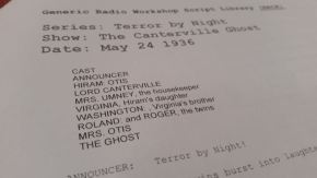 The Mind Reels Ole Timey Radio Theatre – The CantervilleGhost