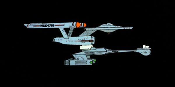 USS_Enterprise_and_IKS_Klothos_combine_warp_power