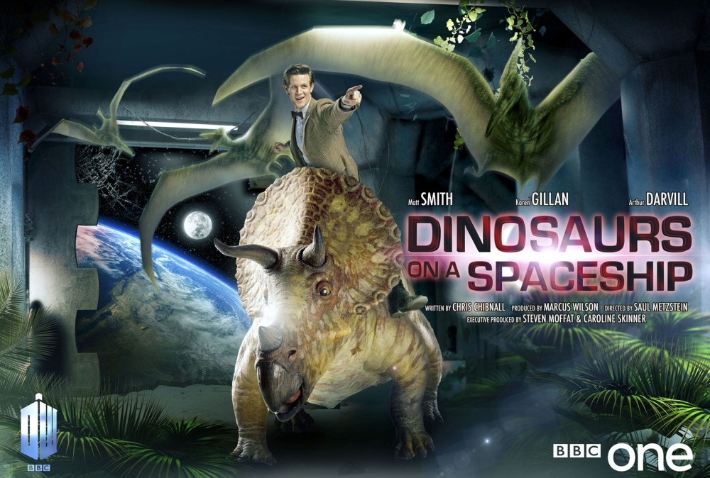 DW227-Dinosaurs-on-a-Spaceship-poster