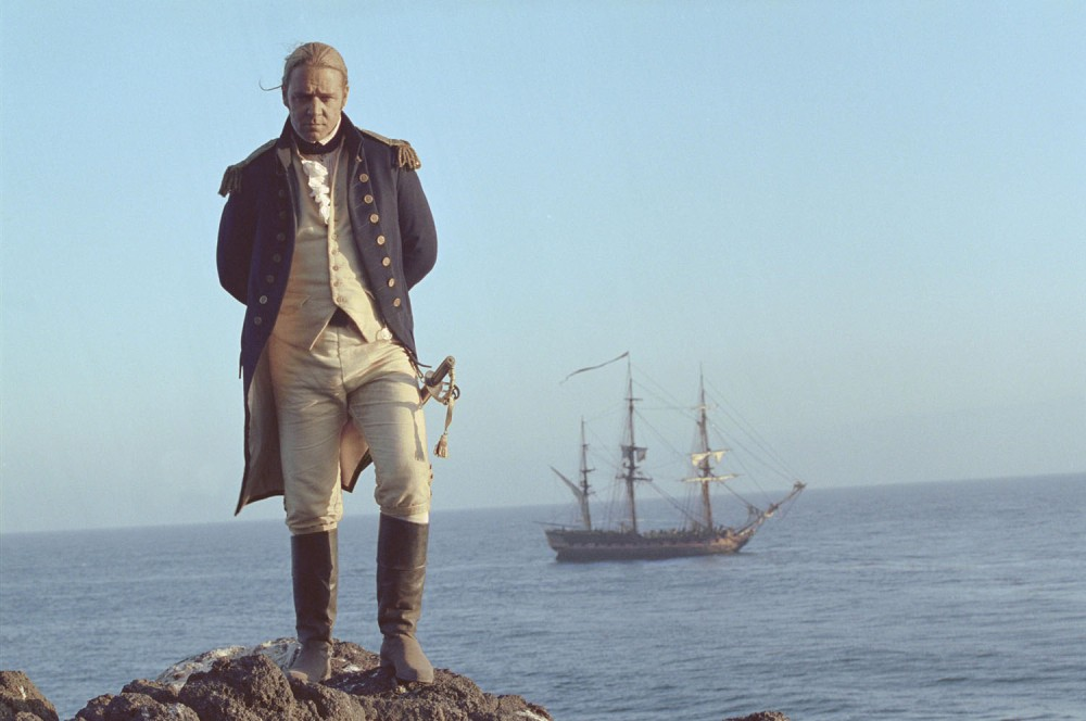 Russell Crowe as he appears in MASTER AND COMMANDER: THE FAR SIDE OF THE WORLD, 2003.
